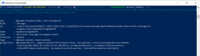 How to call the Azure REST API from PowerShell – 1 21 kilobytes